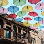 Sombras de paraguas en Jerusalén