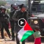 Un vídeo muestra cómo un palestino envía a su hijo pequeño a tirar piedras contra policías israelíes