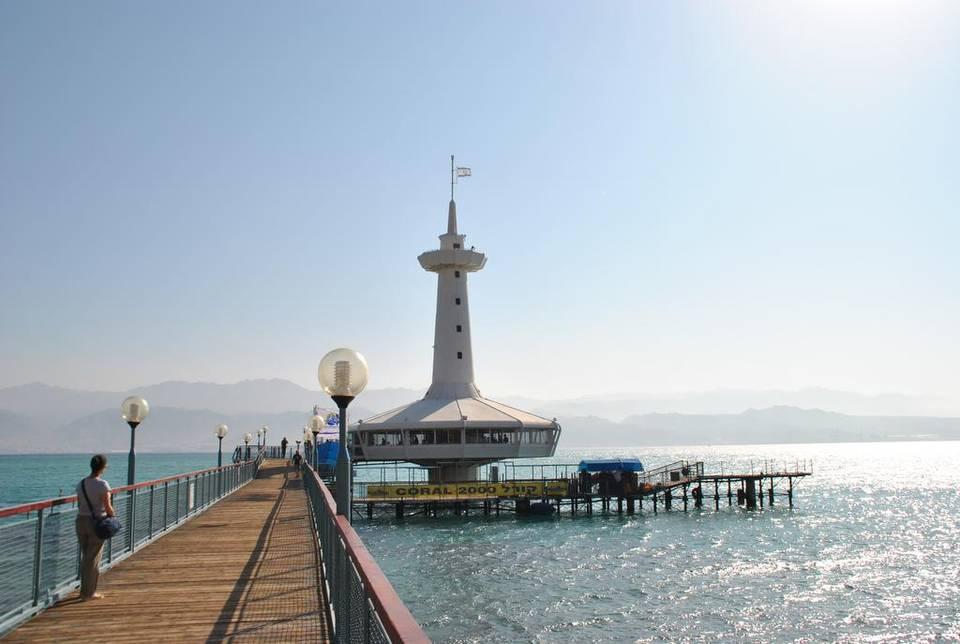 El aquarium de Eilat incluye un observatorio ubicado bajo el mar, el Under Water Observatory Marine Park. Igor Galo Foto de cortesía