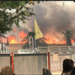 Un cometa incendiario provoca un gran incendio cerca de Colegio Sapir