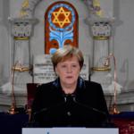 Merkel condena aumento del antisemitismo en el 80 aniversario de Kristallnacht