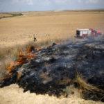 Nueve siniestros en Israel por globos incendiarios lanzados desde Gaza