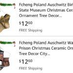 Amazon retira de la venta adornos navideños con imágenes de Auschwitz tras las críticas
