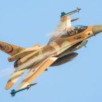 Aviones de combate israelíes dañados por la tormenta de la semana pasada