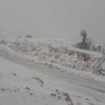 El invierno israelí se hace sentir con las primeras nevadas en el monte Hermón